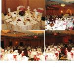 Ivory linens with chair covers and bow