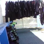 Communal wetsuits/fins/masks in good condition