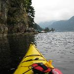 kayaking in Indian Arm fjord