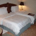 A standard twin room
