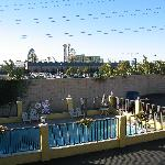 View of Alpine pool and Disney's CA Adventure park