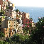 Corniglia apartment from across hillside