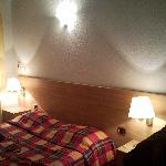 La chambre avec l'effet soirée cozy (romantique)