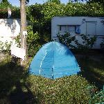 """Cozy"" campsites and caravans at Camping Spartacus"