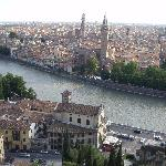 Rooftops of Verona from Castel San Pietro