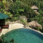 Hill side villa pool...