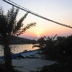 coucher de soleil du balcon