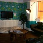 Comfy lounge area...