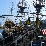 Replica of Drake's ship, The Golden Hind in Brixham
