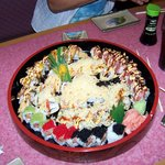 A Round Sushi Platter
