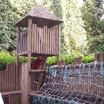Part of the outdoor play area