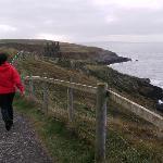 Walk to Dunskey castle