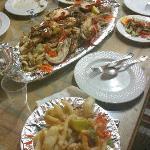 Calamari fritti e grigliata di pesce