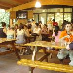 Outdoor dining/party area at Camping Internazionale
