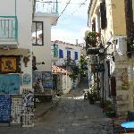 Side street in Skiathos town
