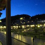 Vista de Plaza desde balcón de cafetería