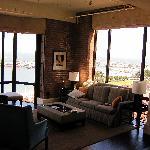 Bay windows in Family Room