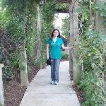 Me in the vine walkway