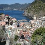 Vernazza från leden till Corniglia
