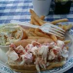 Lobster roll at Capt. Cass in Rock Harbor
