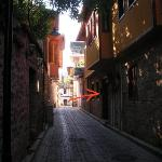 the street/alley of the pension