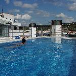 swiming pool on the roof