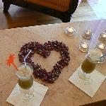 petits cocktails de fruits frais pendant notre soin au SPA