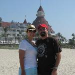 Us on the beach infront of the Del Coronado