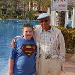 my little boy with Mel from tv series Benidorm