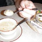 more of the clam chowder - with the flash on