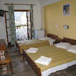Room - 1st floor, two beds, cabinet, closet, TV, refrigerator, AC