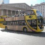 City Tour Bus at Plaza De Mayo