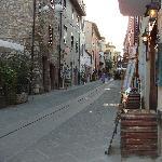 Castiglione Del Lago fortress street view