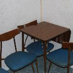50's tables in kitchenette