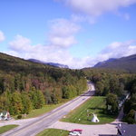 Franconia Notch view from tower at Indian Head Resort
