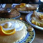 Our first visit- The pancakes, omlettes and the toast