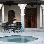 Antelope room in the Sultan riad, which has a little plunge pool