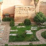 Looking down into the Sadian tombs from the rooftop terrace