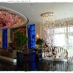 View from the reception to the lobby lounge