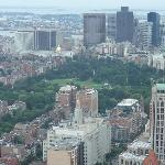 Boston Common from the top of the Prudential Center