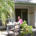 Breakfast under the palmtrees