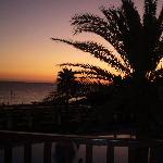 Sun set at Akti