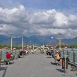 View from the end of the pier at Forte Dei Marmi.