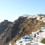 Photo of Oia town from hotel