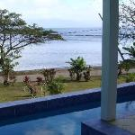 Villa pool to beach