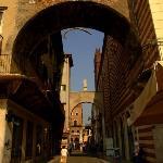 Note the whale bone suspended beneath the Arco della Costa. A Verona fable, walking under the ar