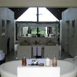 Bathroom over looking the bedroom