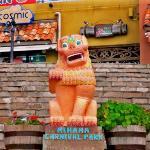 沖縄 Okinawa @ the steps of Mihama Carnival Park.