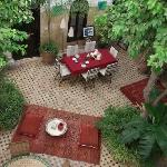 Riad Aguerzame - view of courtyard from our room