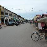 Looking down main street, Siem Reap